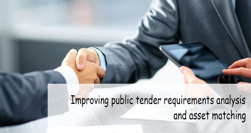 Improving public tender requirements analysis and asset matching